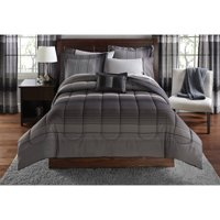 Mainstays Ombre Bed in a Bag Bedding with Decorative Pillow, 8 Piece