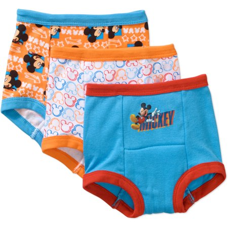 - Disney's Mickey Mouse Potty Training Pants Underwear, 3-Pack (Toddler Boys)