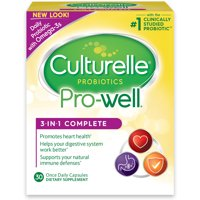 Culturelle Probiotics Pro-Well 3-in-1 Complete Dietary Supplement Capsules - 30 CT