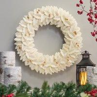 """Belham Living Felt Christmas Wreath, 22"""" diameter"""