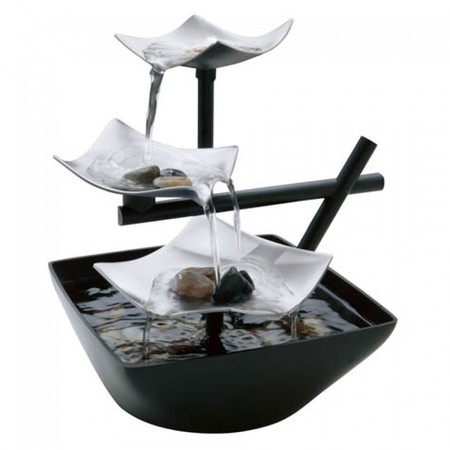 Bowl Tabletop Fountain (HoMedics EnviraScape Silver Springs Relaxation Fountain, WFL-SLVS )