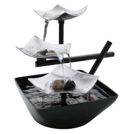 Bamboo Tabletop Fountain - HoMedics EnviraScape Silver Springs Relaxation Fountain, WFL-SLVS