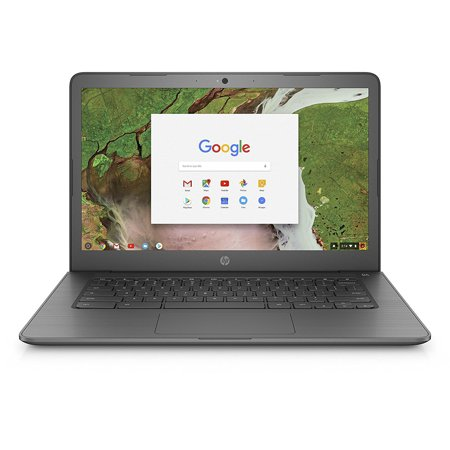 HP 14-CA070NR Chalkboard Gray 14 inch HD Touch Chromebook, Chrome OS, Celeron N3350 DC Processor, 4GB Memory, 32GB eMMC Storage, UMA graphics, B&O (Chrome Chalk)