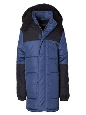Product Image Hooded Arm Patch Puffer Jacket Coat (Baby Boys \u0026 Toddler Boys) Coats Jackets - Walmart.com