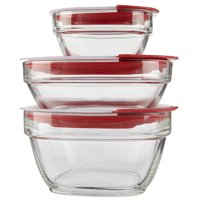 Rubbermaid Easy Find Lids Glass Food Storage Containers, 6-Piece Set