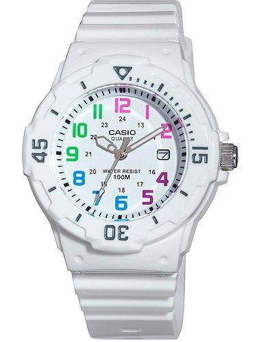 Women's Diver Watch, White Strap and Multi-Colored -