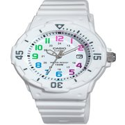 Casio Women's Diver White Resin Strap and Multi-Colored Numerals Watch