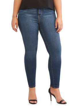 Jordache Women's Plus High Rise Super Skinny Ankle Jean