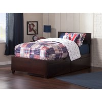 Orlando Platform Bed with Matching Foot Board with 2 Urban Bed Drawers in Multiple Colors and Sizes