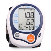 LotFancy Wrist Blood Pressure Monitor Machine with Portable Case for Home Use, FDA Approved, WHO Indicator, 60 Memories