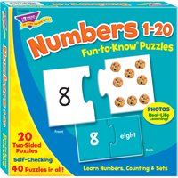 "Trend, TEPT36003, Fun-to-Know 3"" Numbers Puzzles, 1 Each, Multicolor"
