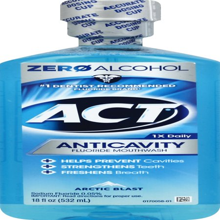 ACT® Anticavity Alcohol Free Arctic Blast Mouthwash, 18oz ()