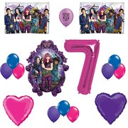 Descendants 2 Party Supplies Happy 7th Birthday Balloon Set