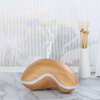 Essential Oil Diffuser,Wood Grain Ultrasonic Aroma Diffuser Cool Mist Humidifier for Office Home Bedroom Living Room Study Yoga Spa