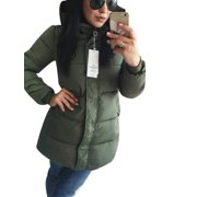 Women's Winter Warm Hoodied Coats Long Parka Puffer Jacket Outwear