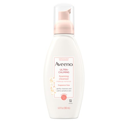 Aveeno Ultra-Calming Foaming Cleanser for Sensitive Skin, 6 fl. (Best Moisturizing Face Wash For Dry Skin)
