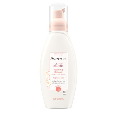Aveeno Ultra-Calming Foaming Cleanser for Sensitive Skin, 6 fl.