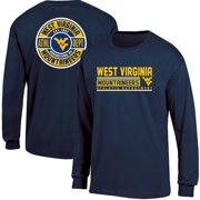 Men s Russell Navy West Virginia Mountaineers Back Hit Long Sleeve T-Shirt 6007244db