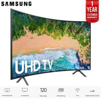 """Samsung UN65NU7300 65"""" (UN65NU7300FXZA) NU7300 Curved Smart 4K UHD TV 2018 Model with 2x 6ft High Speed HDMI Cable + Universal Screen Cleaner for LED TVs"""