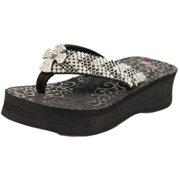 95424dd0d68d6 Blazin Roxx Western Shoes Womens Tanya Flip Flops Cross 41136