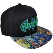 b573f10f320 Men s Joker Embroidered Flat Bill Hat with Screenprinted Bill