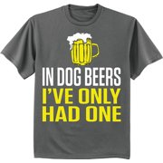 9ae25a83bdca2 Funny dog beer t-shirt graphic tee for men