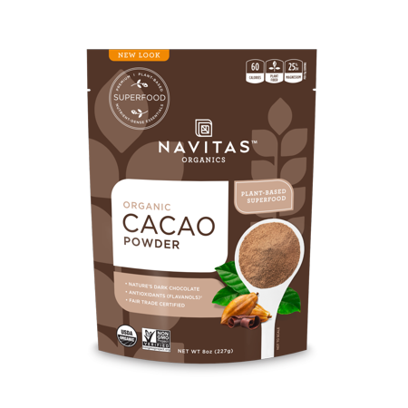 Navitas Organics Cacao Powder, 8.0 oz (Best Cacao In The World)