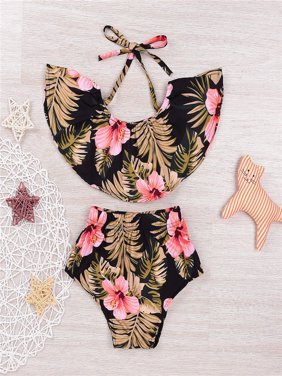 2Pcs Summer Floral Newborn Infant Baby Girls Clothes Halter Tank Tops+Short Pants Toddler Outfits Clothing Set