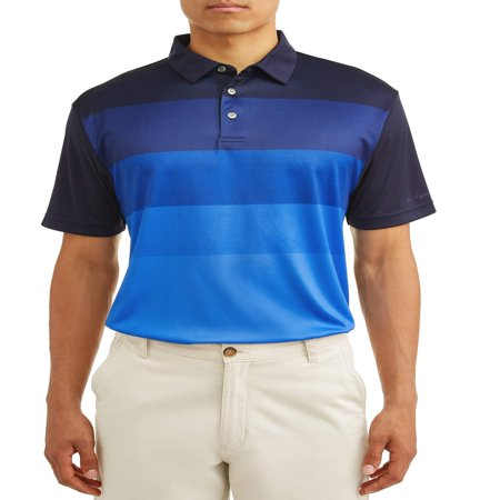 Ben Hogan Men's Performance Short Sleeve Fading Stripe Polo Shirt Classic Striped Cotton Polo Shirt
