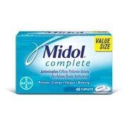 Midol Complete, Menstrual Period Symptoms Relief, Caplets, 40 Count