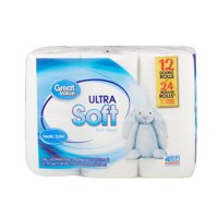 Great Value Ultra Soft Bath Tissue, 12 Double Rolls