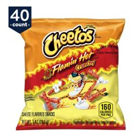 Cheetos Crunchy Flamin' Hot Cheese Flavored Snack Pack, 1 oz Bags, 40 Count