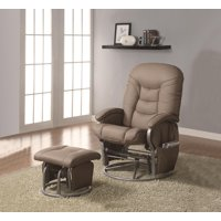 Deluxe Glider and Ottoman Set-Color:Taupe