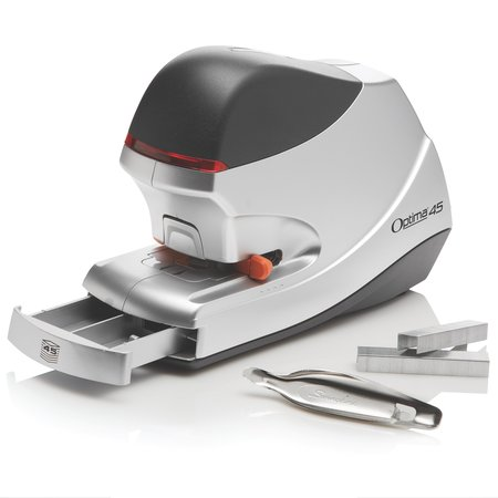 Swingline Optima 45 Electric Stapler, 45-Sheet Capacity, Silver - 18v Stapler