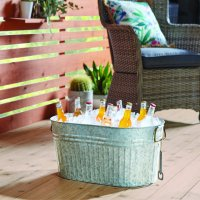 Better Homes & Gardens Galvanized Large Oval tub