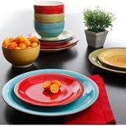 Better Homes & Gardens Festival Dinnerware, Assorted Colors, Set of 12