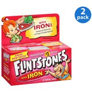 Flintstone Vit W/Iro Size 60s Flintstones Childrens Multivitamin Supplement W/ Iron Chewable Tabs