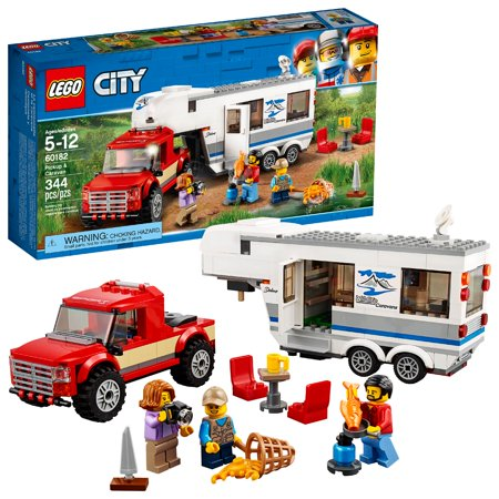 LEGO City Great Vehicles Pickup & Caravan 60182 (344 (Lego City 7498 Best Price)
