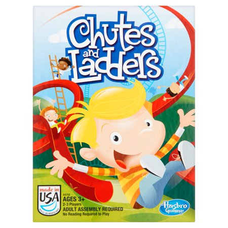 Chutes and Ladders Classic Family Board Game, Ages 3 and