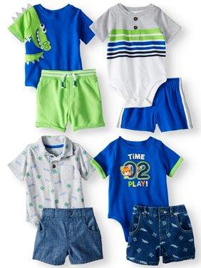 Garanimals Mix & Match Outfits Kid-Pack Gift Box, 8pc Set (Baby Boys)