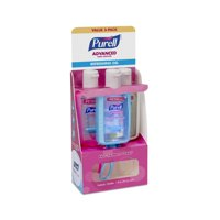 (2 Pack) Purell Advanced Refreshing Gel Hand Sanitizer On the Go Jelly Wrap Carriers, 1 fl oz, 3 count