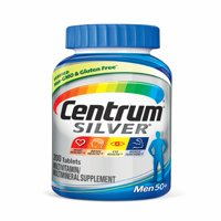 Centrum Silver Men (200 Count) Complete Multivitamin / Multimineral Supplement Tablet, Vitamin D3, B Vitamins, Zinc, Age 50+