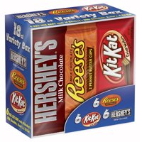 Hershey's, Reese's, Kit Kat, Chocolate Candy Bars Variety Pack, 27.3 Oz, 18 Ct