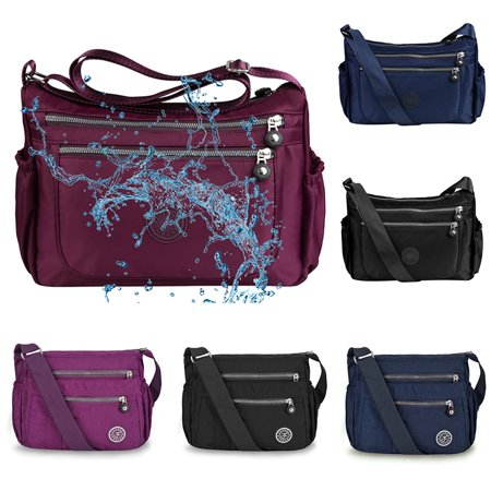 Vbiger Waterproof Shoulder Bag Fashionable Cross-body Bag Casual Bag Handbag for Women, Purple Cross Body Style Bag