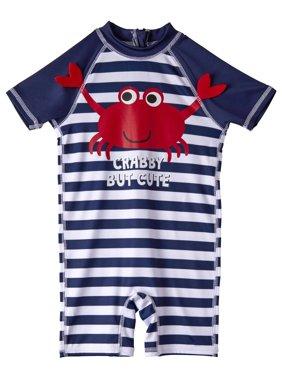 One Piece Rashguard Swimsuit (Baby Boys)