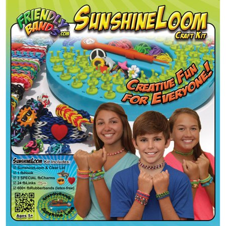 Classic Pot Holder Loom (FriendlyBands Sunshine Loom Rubber Band Bracelet Craft Kit )
