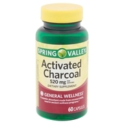 Spring Valley Activated Charcoal Capsules, 520 mg, 60 count