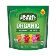 (3 Pack) Black Forest, USDA Organic, Gluten Fat Free Gummy Bears Candy, 8oz