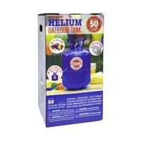 "Helium Balloon Tank Kit for Birthday Party, 9"", 50 Balloons & Ribbon"