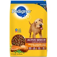 PEDIGREE Active Senior Roasted Chicken, Rice & Vegetable Flavor Dry Dog Food 15 Pounds